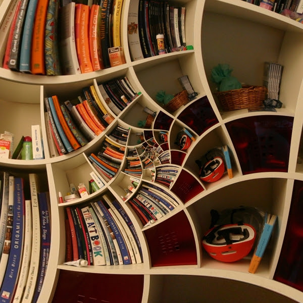 modern-bookshelf-designs-spiral-shelf-wood