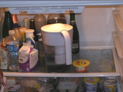 Making Room in Fridge for Holiday Baking