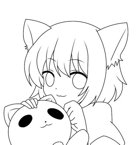 anime cat sketch  paintingvalleycom explore