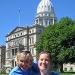 Jennifer & Rochel after our chance  meeting with Rep. Caul