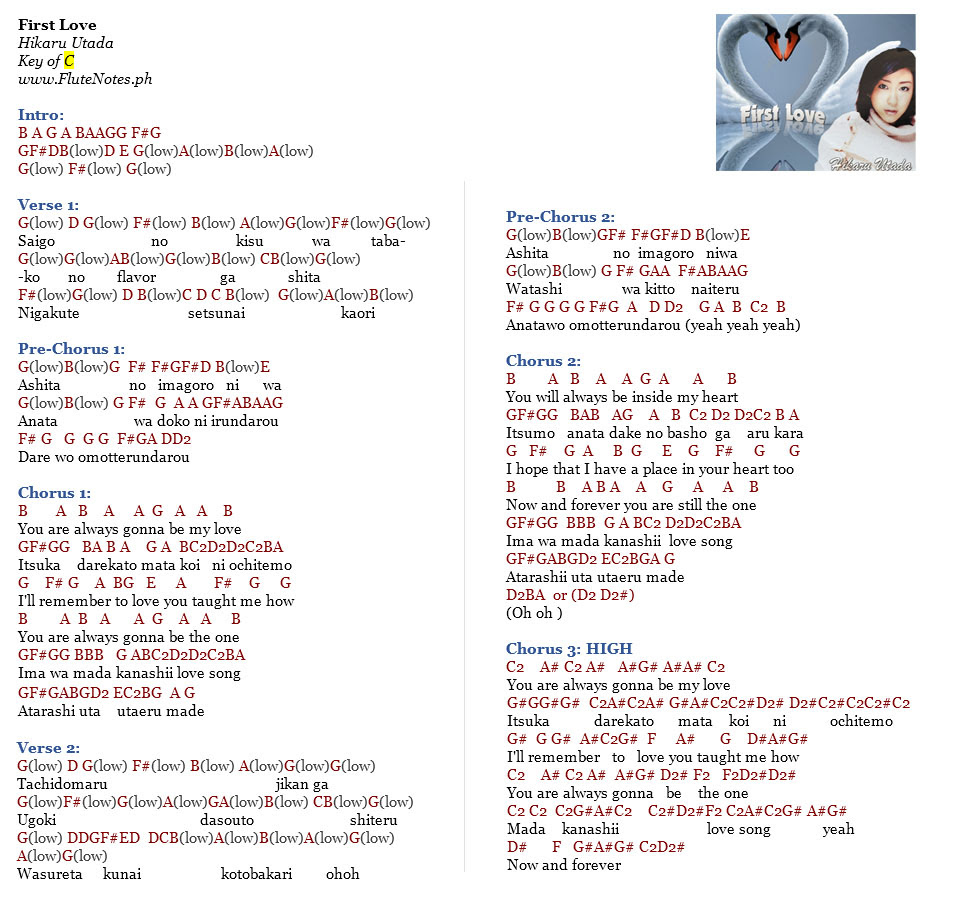 First Love Original Version Notes
