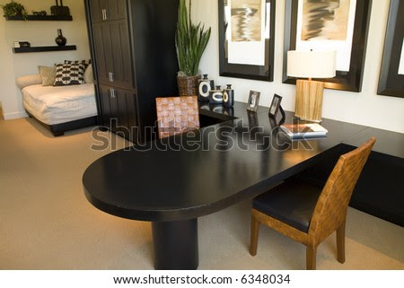 Home Office With Stylish Decor. Stock Photo 6348034 : Shutterstock