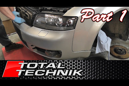 2005 Audi A4 Front Bumper Removal