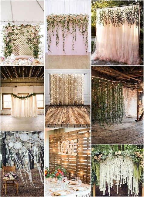 30 Unique and Breathtaking Wedding Backdrop Ideas   My