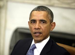 El presidente de EE.UU., Barack Obama, ofrece una rueda de prensa conjunta con el primer ministro israelí, Benjamín Netanyahu (no aparece), tras su encuentro bilateral en el Despacho Oval de la Casa Blanca, Washington (Estados Unidos). EFE