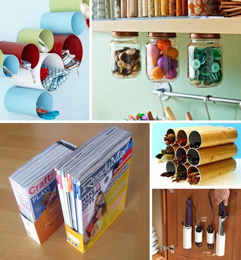 Organize com Containers reciclados