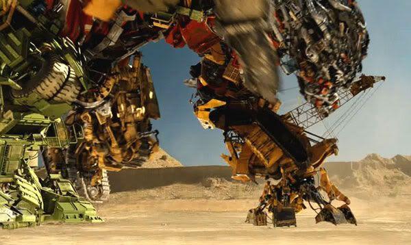 Devastator primed for battle in the Egyptian desert.