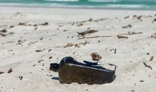 Самое старое послание в бутылке провело в океане 132 года