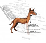 Podenco Canario Dog Scrollsaw Intarsia or Yard Art Woodworking Pattern - fee plans from WoodworkersWorkshop® Online Store - Podenco Canario Dogs,pets,animals,dog breeds,yard art,painting wood crafts,scrollsawing patterns,drawings,plywood,plywoodworking plans,woodworkers projects,workshop blueprints