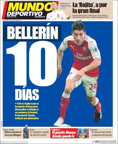 Barcelona give Hector Bellerin just 10 days to decide his Arsenal future