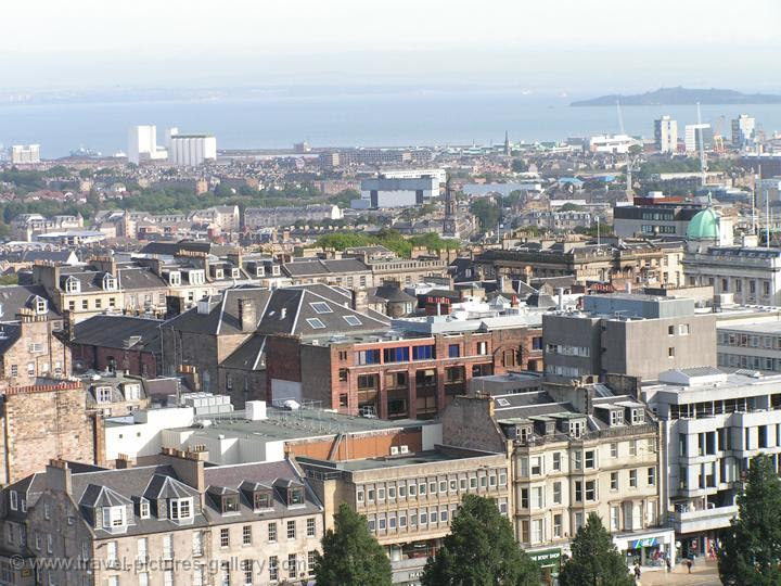 Pictures of Scotland- Edinburgh - view over the city