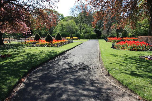 File:Flower gardens in Pearson Park - geograph.org.uk - 1273613.jpg