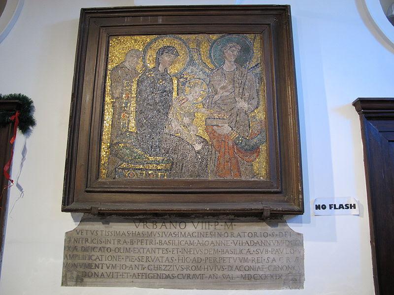 Santa maria in cosmedin, mosaico in ex-sagrestia con epifania, inizi dell'VIII sec.JPG