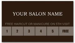 CPS-1013 - salon coupon card