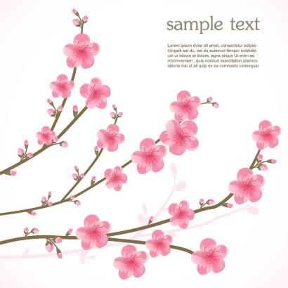桜の花かわいいイラストaieps ベクタークラブイラストレーター素材