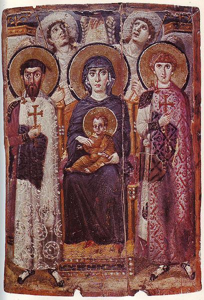 File:Mary & Child Icon Sinai 6th century.jpg