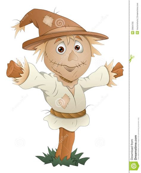 scarecrow cartoon character vector illustration
