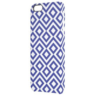 Blue and White Meander Uncommon Clearly™ Deflector iPhone 6 Plus Case