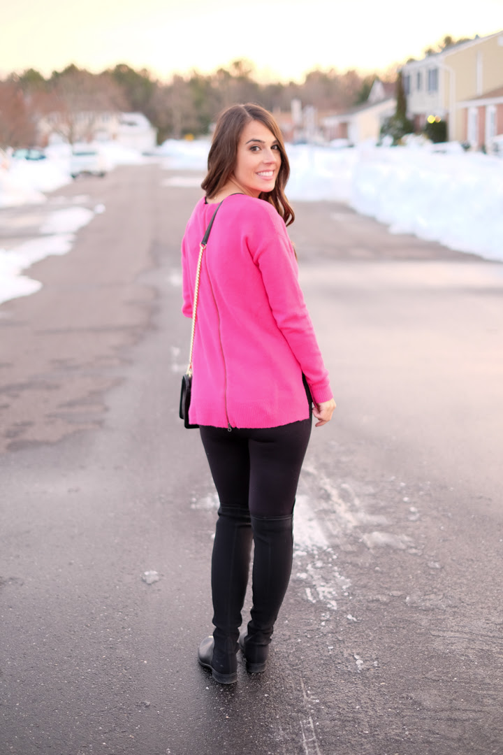 hot pink sweater on sale  mrscasual