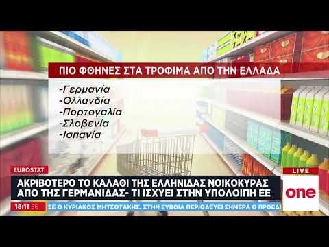 Eurostat: Τιμές «φωτιά» σε τρόφιμα και τηλεπικοινωνίες στην Ελλάδα