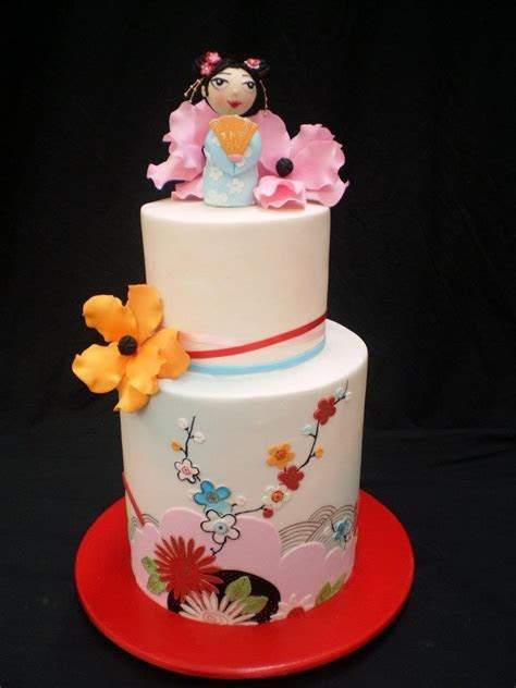 962 best Asian Themed Cakes images on Pinterest