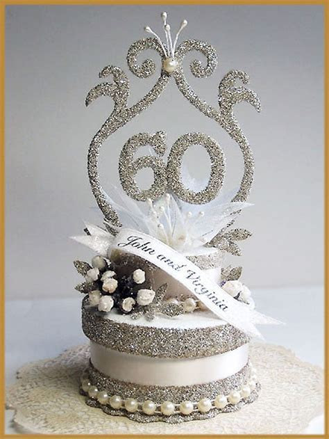 60th Wedding Anniversary Cake Topper Picture in Wedding