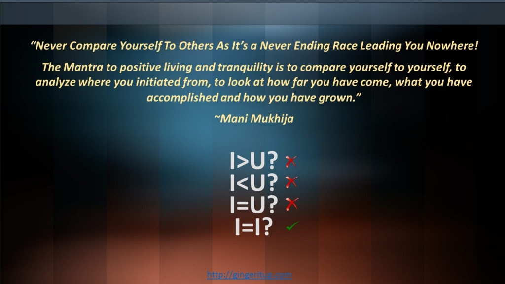 Never Compare Yourself To Others As Its A Never Ending Race Leading