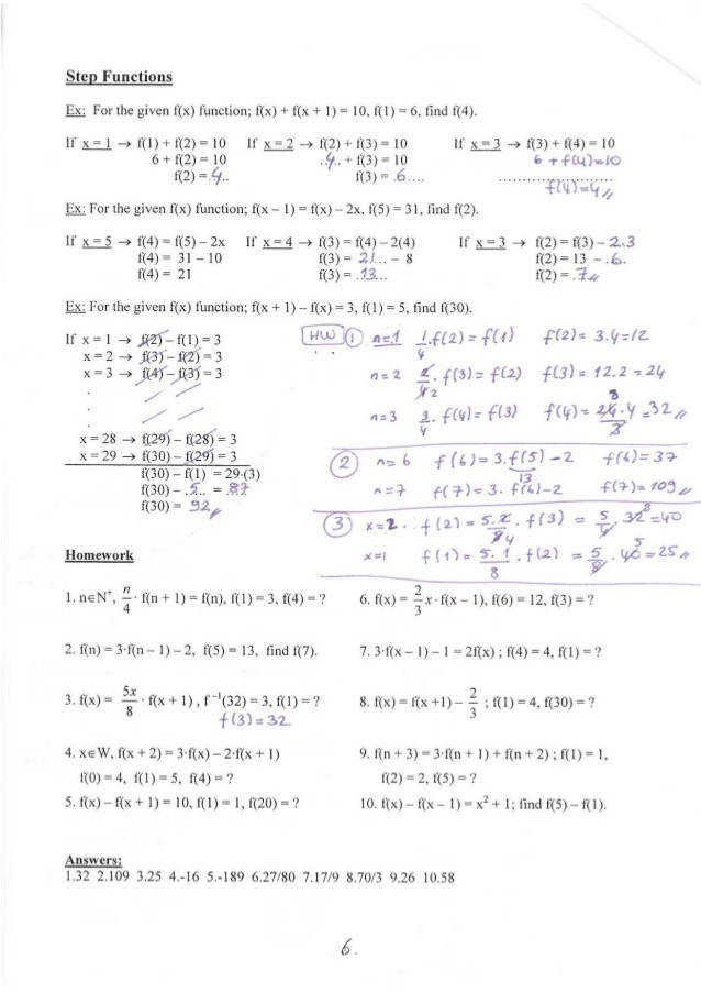 Composite Functions Worksheet  Homeschooldressage.com
