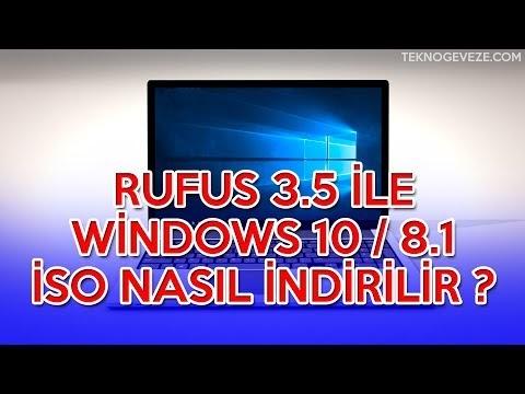 RUFUS ile Windows10.iso Dosyası İndirmek