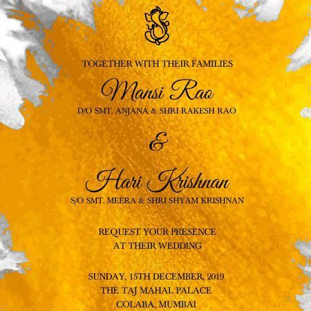 Online Invitation Card Maker For Indian Wedding