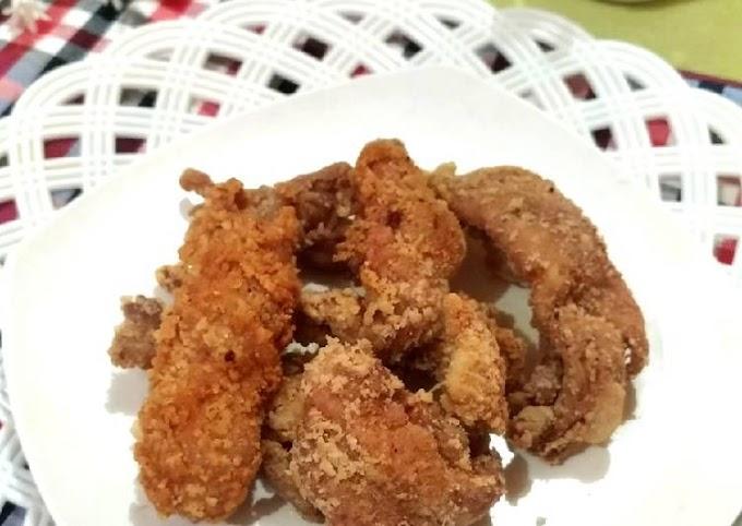 Resep Praktis 110. Kulit Ayam Krispi simple (Maizena) Paling Mudah