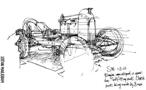 fiats76 ink sketch by Stefan Marjoram