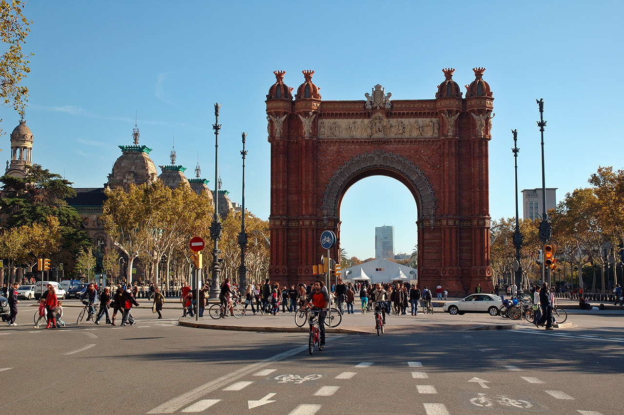 The Triumph Arch or Arc de Triomphe in Barcelona, Spain