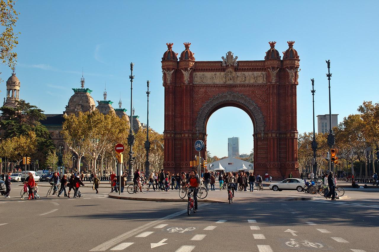 The Triumph Arch or Arc de Triomphe in Barcelona, Spain
