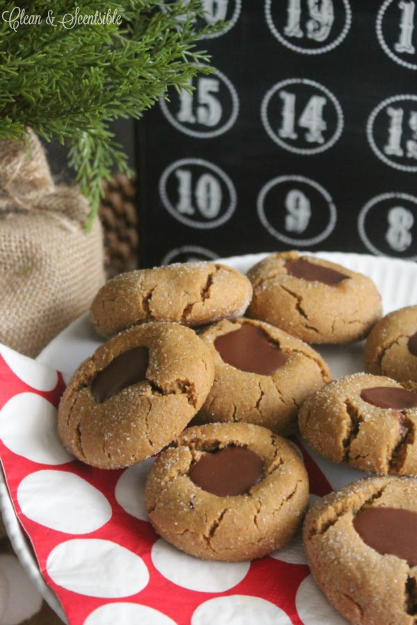 Gingerbread Chocolate Thumbprint Cookies by Clean & Scentsible