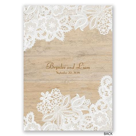 Wood and Lace Invitation   Invitations By Dawn