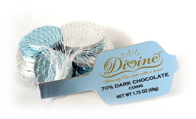 Divine Chocolate Dark Gelt
