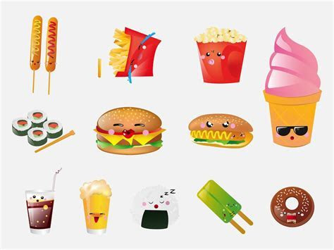 Cute Cartoon Food Wallpapers   WallpaperSafari