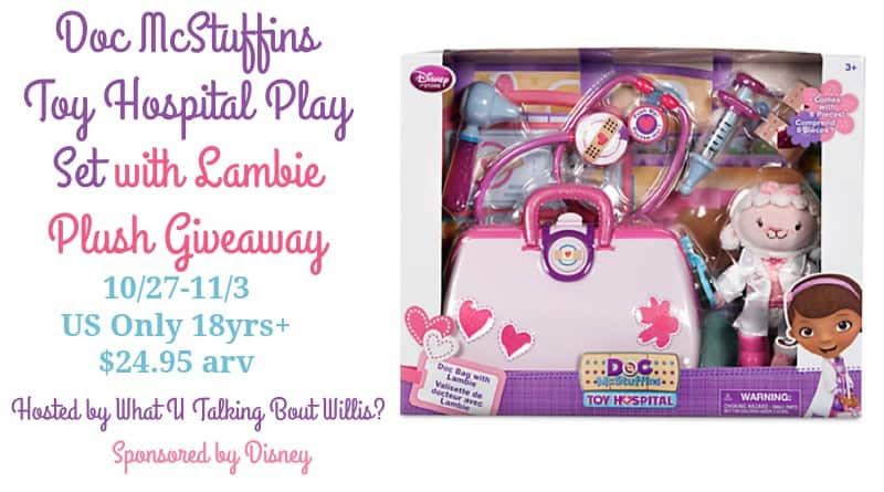 Doc McStuffins Toy Hospital Play Set with Lambie Plush Giveaway
