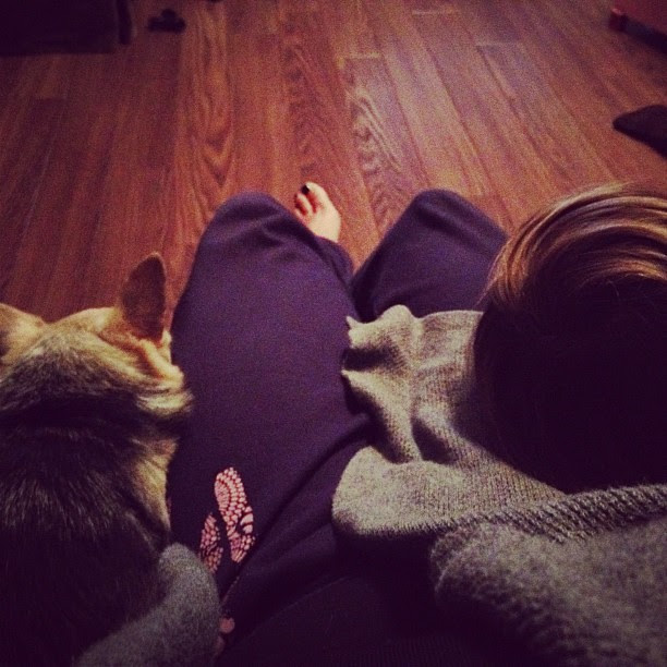 My lap is a pillow to a dog and kid tonight.