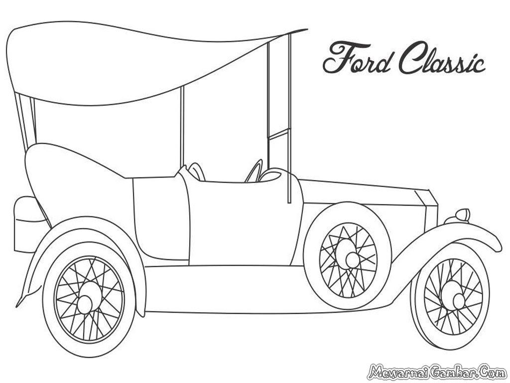 Dessin un beau dessin de Ford a colorier niveau débutant