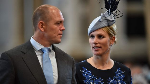 Zara Phillips and her husband, English former rugby player Mike Tindall