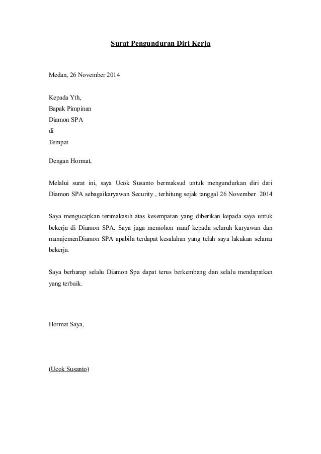 Contoh Email Resign Fontoh