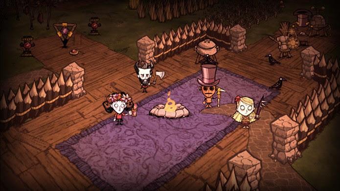 Em Dont Starve Together o jogador tem amigos para ajudar, mas também bocas a mais para alimentar (Foto: Reprodução/Steam)