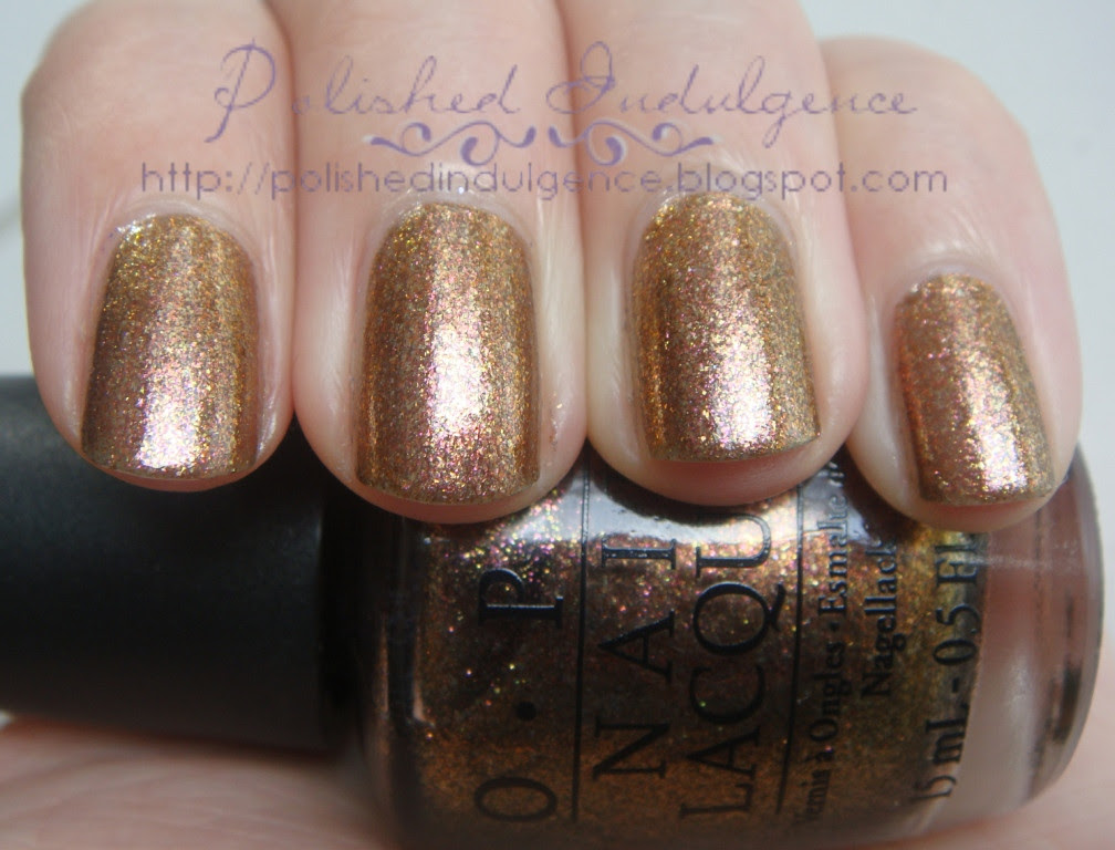 coppery brown foil nail polish