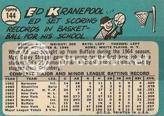 #144 Ed Kranepool (back)