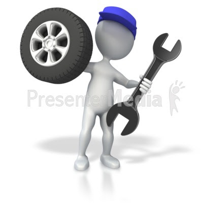 Mechanic with Tire and Wrench - Science and Technology ...
