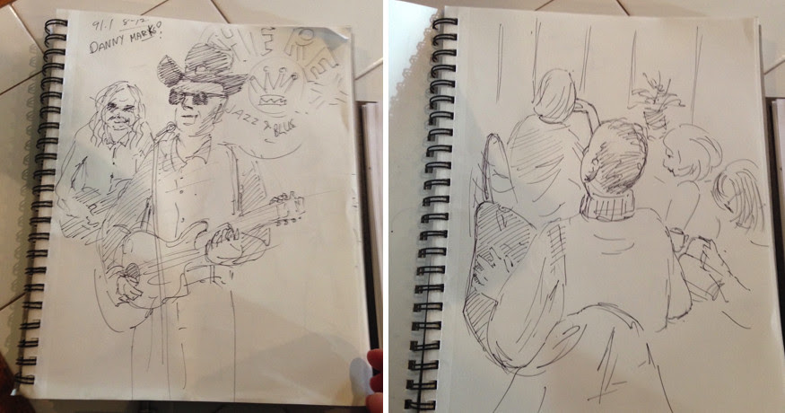 Toronto Urban Sketchers, Urban Sketh, The Rex Jazz & Blues Bar, Live Band, Art, sketchbooks
