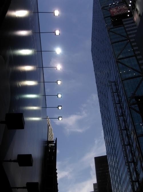bright lights in midtown, Manhattan, NYC