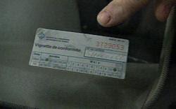 Vehicle Import Inspection Sticker